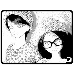 Twins Double Sided Fleece Blanket (large)  by snowwhitegirl