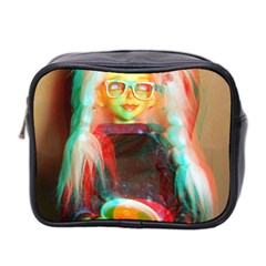 Eating Lunch 3d Mini Toiletries Bag (two Sides)