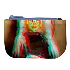 Eating Lunch 3d Large Coin Purse by snowwhitegirl