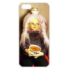 Eating Lunch Apple Iphone 5 Seamless Case (white) by snowwhitegirl