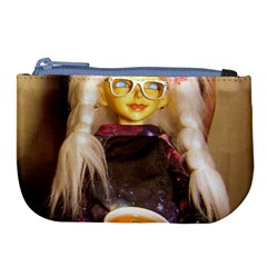 Eating Lunch Large Coin Purse by snowwhitegirl