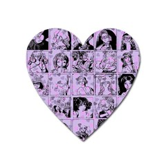 Lilac Yearbook 1 Heart Magnet by snowwhitegirl