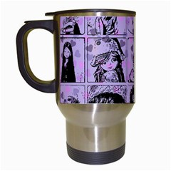 Lilac Yearbook 2 Travel Mugs (white) by snowwhitegirl