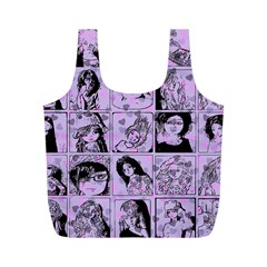 Lilac Yearbook 2 Full Print Recycle Bag (m) by snowwhitegirl