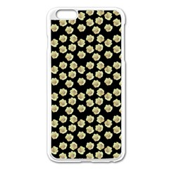 Antique Flowers Black Apple Iphone 6 Plus/6s Plus Enamel White Case