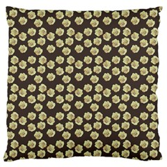 Antique Flowers Brown Large Cushion Case (one Side) by snowwhitegirl