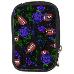 Blue Rose Vampire Compact Camera Leather Case by snowwhitegirl