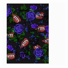 Blue Rose Vampire Large Garden Flag (two Sides) by snowwhitegirl