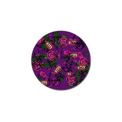 Purple  Rose Vampire Golf Ball Marker by snowwhitegirl