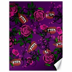 Purple  Rose Vampire Canvas 18  X 24   by snowwhitegirl