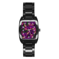 Purple  Rose Vampire Stainless Steel Barrel Watch by snowwhitegirl