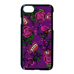 Purple  Rose Vampire Apple Iphone 7 Seamless Case (black) by snowwhitegirl