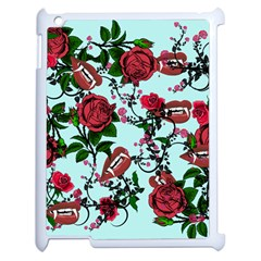 Light Blue Rose Vampire Apple Ipad 2 Case (white) by snowwhitegirl