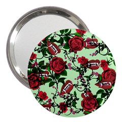 Green Rose Vampire 3  Handbag Mirrors by snowwhitegirl
