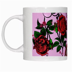 Pink Rose Vampire White Mugs by snowwhitegirl