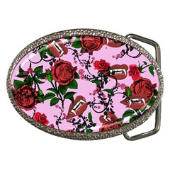 Pink Rose Vampire Belt Buckles by snowwhitegirl