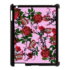 Pink Rose Vampire Apple Ipad 3/4 Case (black) by snowwhitegirl