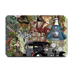 Steampunk Collage Small Doormat  by snowwhitegirl