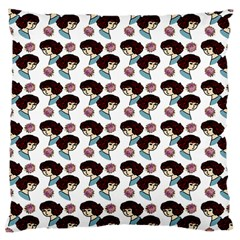 Redhead Girl Pattern Large Cushion Case (one Side)