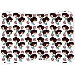 Redhead Girl Pattern Velour Seat Head Rest Cushion