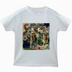 Angel Collage Kids White T Shirts by snowwhitegirl
