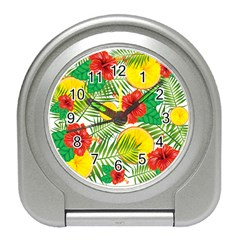 Orange Tropics Travel Alarm Clock by snowwhitegirl