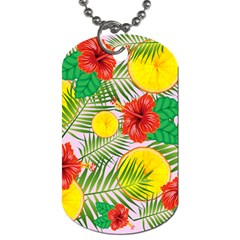 Orange Tropics Pink Dog Tag (two Sides) by snowwhitegirl