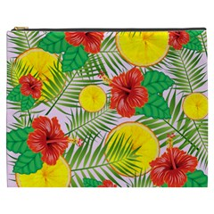 Orange Tropics Pink Cosmetic Bag (xxxl) by snowwhitegirl