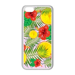 Orange Tropics Pink Apple Iphone 5c Seamless Case (white) by snowwhitegirl