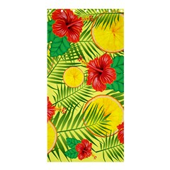 Orange Tropics Yellow Shower Curtain 36  X 72  (stall)