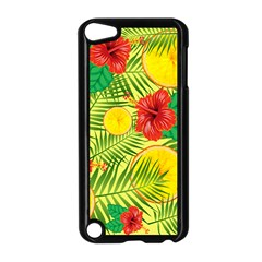Orange Tropics Yellow Apple Ipod Touch 5 Case (black) by snowwhitegirl
