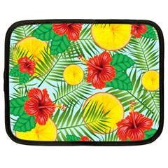 Orange Tropics Blue Netbook Case (xxl) by snowwhitegirl