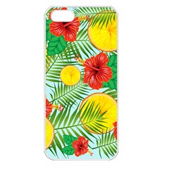 Orange Tropics Blue Apple Iphone 5 Seamless Case (white) by snowwhitegirl