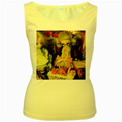 Happy Holidays Women s Yellow Tank Top by snowwhitegirl