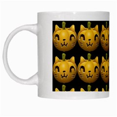 Cat Pumpkin White Mugs by snowwhitegirl
