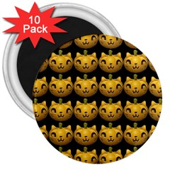 Cat Pumpkin 3  Magnets (10 Pack)  by snowwhitegirl