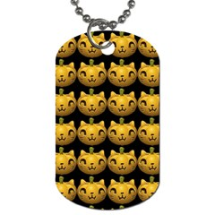 Cat Pumpkin Dog Tag (two Sides) by snowwhitegirl