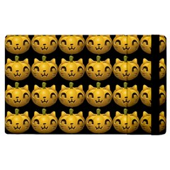Cat Pumpkin Apple Ipad 3/4 Flip Case by snowwhitegirl