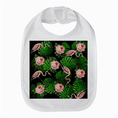Flamingo Floral Black Bib by snowwhitegirl