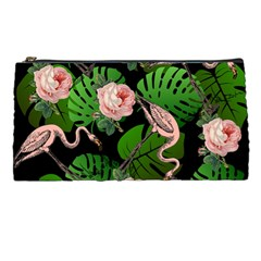 Flamingo Floral Black Pencil Cases
