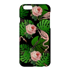 Flamingo Floral Black Apple Iphone 6 Plus/6s Plus Hardshell Case by snowwhitegirl