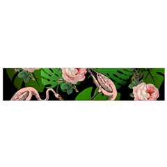 Flamingo Floral Black Small Flano Scarf by snowwhitegirl