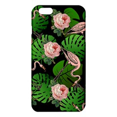 Flamingo Floral Black Iphone 6 Plus/6s Plus Tpu Case by snowwhitegirl