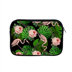 Flamingo Floral Black Apple Macbook Pro 15  Zipper Case by snowwhitegirl