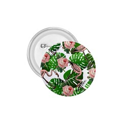Flamingo Floral White 1 75  Buttons by snowwhitegirl