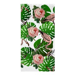 Flamingo Floral White Shower Curtain 36  X 72  (stall)  by snowwhitegirl