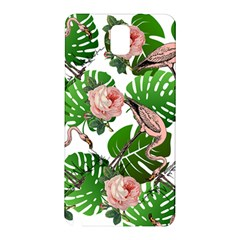 Flamingo Floral White Samsung Galaxy Note 3 N9005 Hardshell Back Case by snowwhitegirl