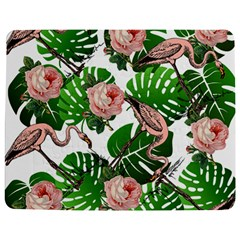 Flamingo Floral White Jigsaw Puzzle Photo Stand (rectangular) by snowwhitegirl