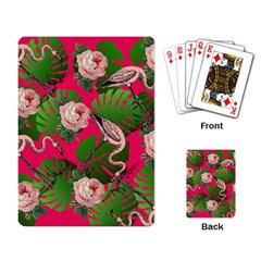 Flamingo Floral Pink Playing Card by snowwhitegirl