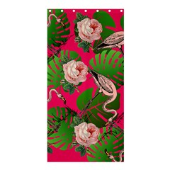 Flamingo Floral Pink Shower Curtain 36  X 72  (stall)  by snowwhitegirl